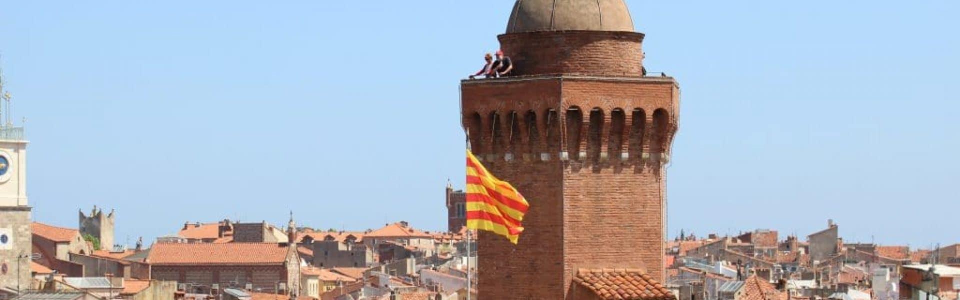 Castillet drapeau1©BIT Perpignan