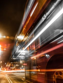 long-exposure-of-double-decker-bus-3220861